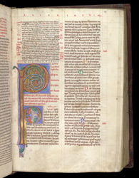Illuminated Initials And Scribal Corrections, In Peter Lombard, Commentary On The Pauline Epistles